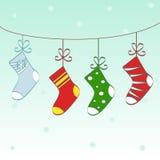 Christmas socks text frame Royalty Free Stock Photo