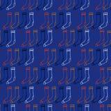 Christmas socks  trendy colors Royalty Free Stock Photography