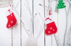 Christmas socks Stock Photos
