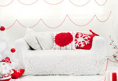 Christmas sofa Royalty Free Stock Photo