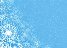 Christmas soft blue card Stock Photos