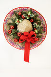 Christmas Sombrero 1. A sombrero decorated with dried and silk flowers for Christmas Stock Photo