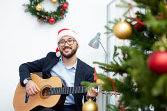 Christmas song Stock Images