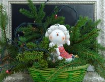 Christmas song snowman gift for the new year Royalty Free Stock Photography