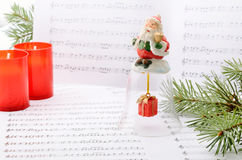 Christmas songs Stock Image
