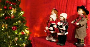 Christmas songs. Under the tree royalty free stock photo