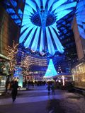 Christmas Sony Center. The Sony Center with all the christmas decorations, Berlin, Germany december 2012 Royalty Free Stock Image