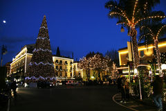 Christmas in sorrento. The big Christmas tree in the main square of sorrento in italy Stock Photography