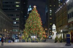 Christmas South Street Seaport Royalty Free Stock Image