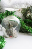 Christmas souvenir on background holiday decoration Royalty Free Stock Photography