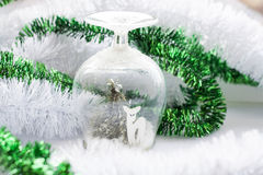 Christmas souvenir on background holiday decoration Royalty Free Stock Images