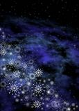 Christmas space background Stock Image