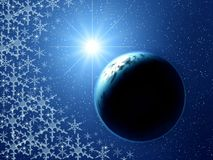 Christmas space fantasy Royalty Free Stock Photography