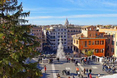Christmas on the Spanish steps, Rome Stock Photo