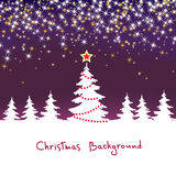 Christmas sparkle  background with tree Royalty Free Stock Photo