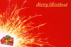Christmas sparkler Stock Images