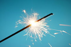 Christmas sparkler Royalty Free Stock Image