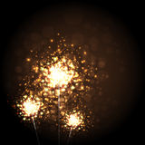 Christmas Sparkler Background Royalty Free Stock Images