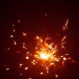 Christmas sparkler in haze Stock Photos