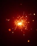 Christmas sparkler in haze Stock Image