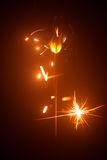 Christmas sparkler in haze Royalty Free Stock Photos