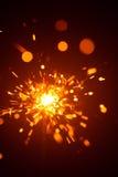 Christmas sparkler in haze Royalty Free Stock Image