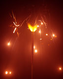 Christmas sparkler in haze Royalty Free Stock Photo