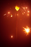 Christmas sparkler in haze Royalty Free Stock Photography