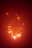Christmas sparkler with red light Stock Photo