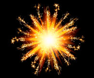 Christmas sparklers star with shiny glare Stock Images