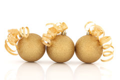 Christmas Sparkling Baubles stock photography