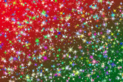 Christmas sparkling stars Stock Photography