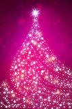 Christmas sparkly tree background. Pink Stock Photos