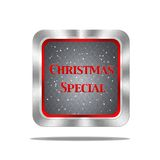 Christmas special button. Stock Photos
