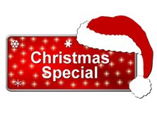 Christmas Special Button Stock Photo