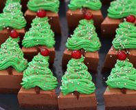 Christmas special cake stock photography