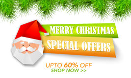 Christmas Special Offer Tag or Banner design. Royalty Free Stock Images