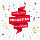 Christmas special offer upto 50% off. For web design and application interface, also useful for infographics. Vector illustration Stock Image