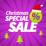 Christmas special sale background Royalty Free Stock Images