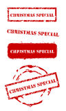 Christmas special stamps. Grunge Christmas special rubber stamp set Stock Photography