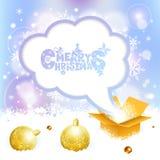 Christmas Speech Bubble Stock Photography