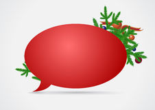Christmas speech bubble Royalty Free Stock Photos
