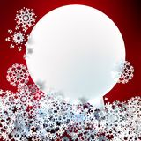 Christmas with speech bubble and snowflakes. Stock Image