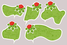 Christmas speech bubbles Royalty Free Stock Photo