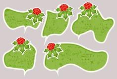 Christmas speech bubbles. Speech bubbles or sticker set Royalty Free Stock Photo