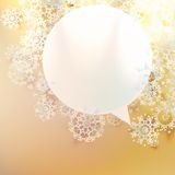 Christmas speech bubbles. Stock Photography