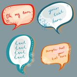 Christmas speech bubbles set Stock Photography