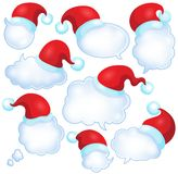 Christmas speech bubbles set 1 Stock Photography
