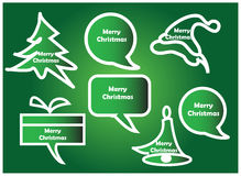 Christmas speech bubbles Royalty Free Stock Photos