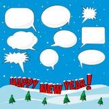 Christmas speech bubbles set. Royalty Free Stock Image